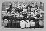 groupe d'ouvrières de la papeterie des Charbonniers (Thiers, Puy-de-Dôme, France)